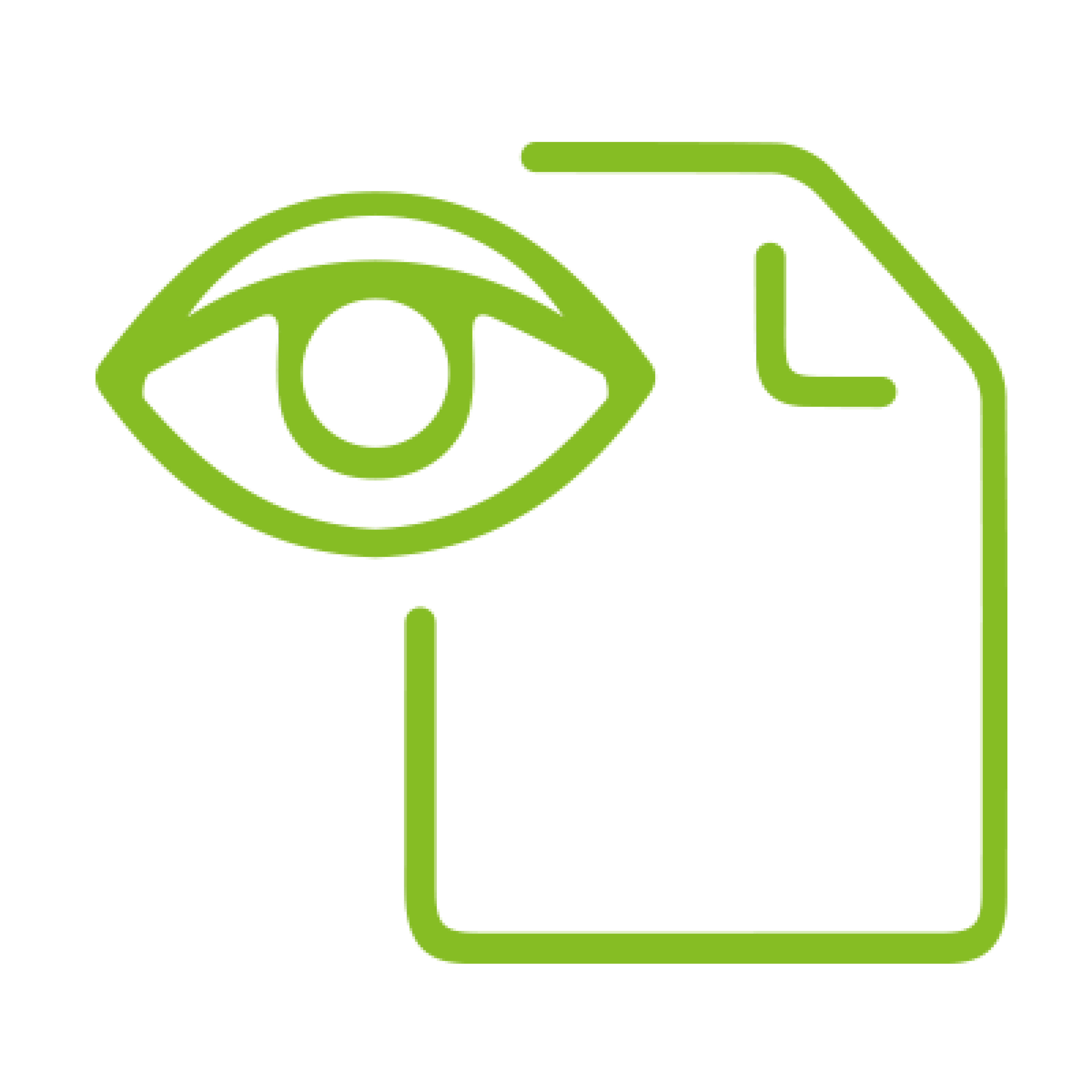 Eye and paper icon