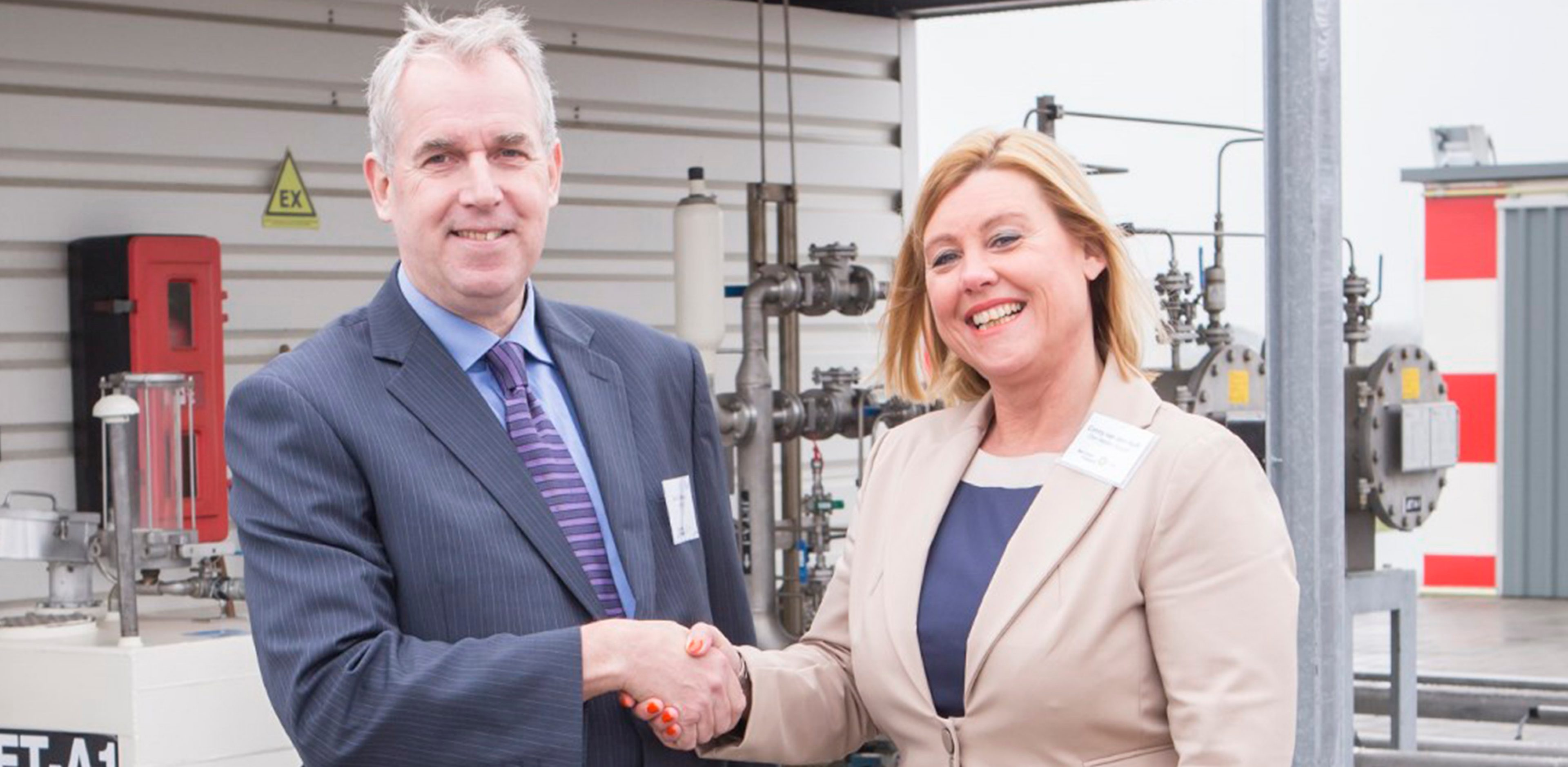 David Gilmour Air BP CEO with Conny van den Hoff Director Den Held