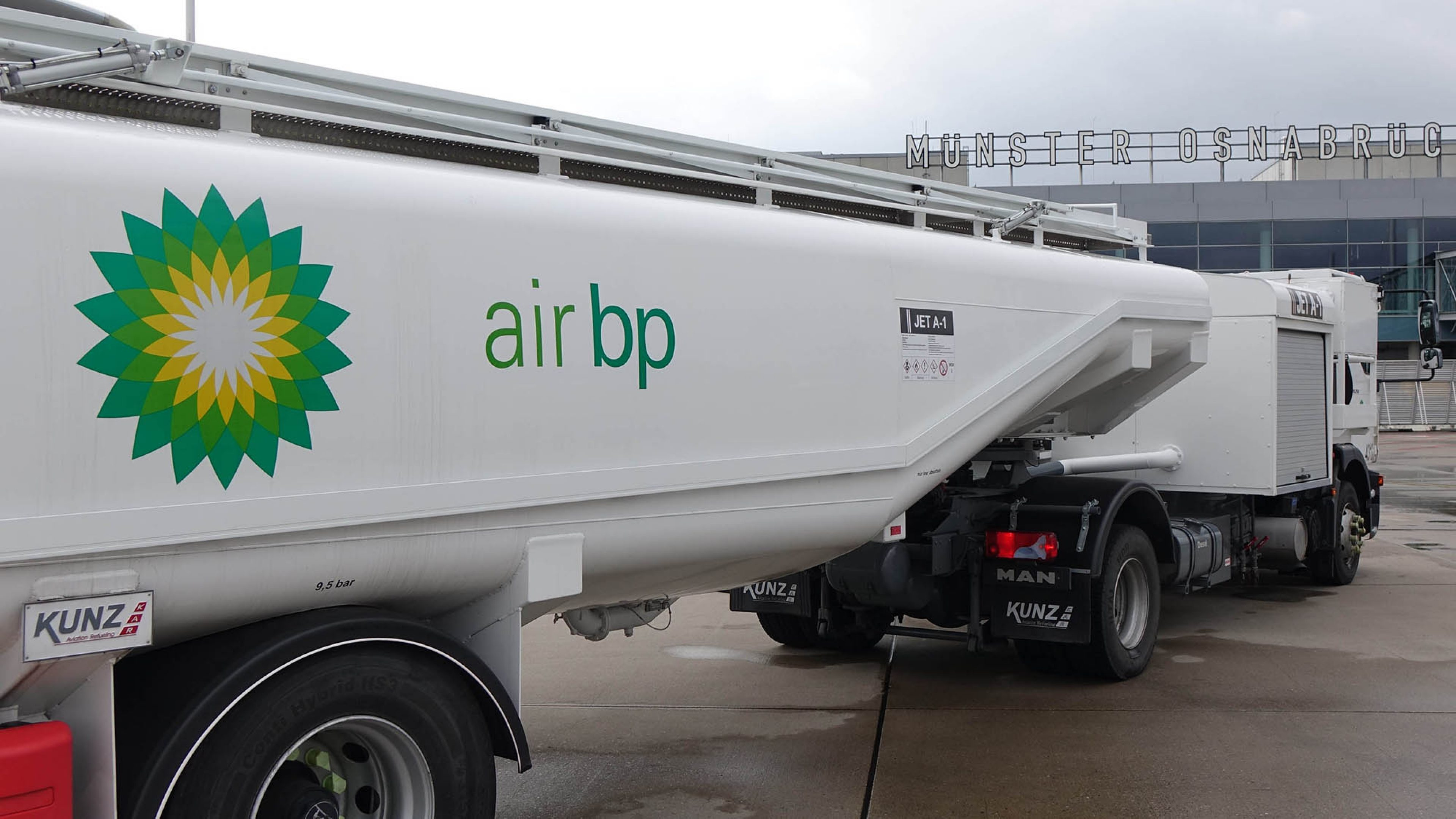 Air BP fuels its first customer at Muenster-Osnabrück International airport, Germany