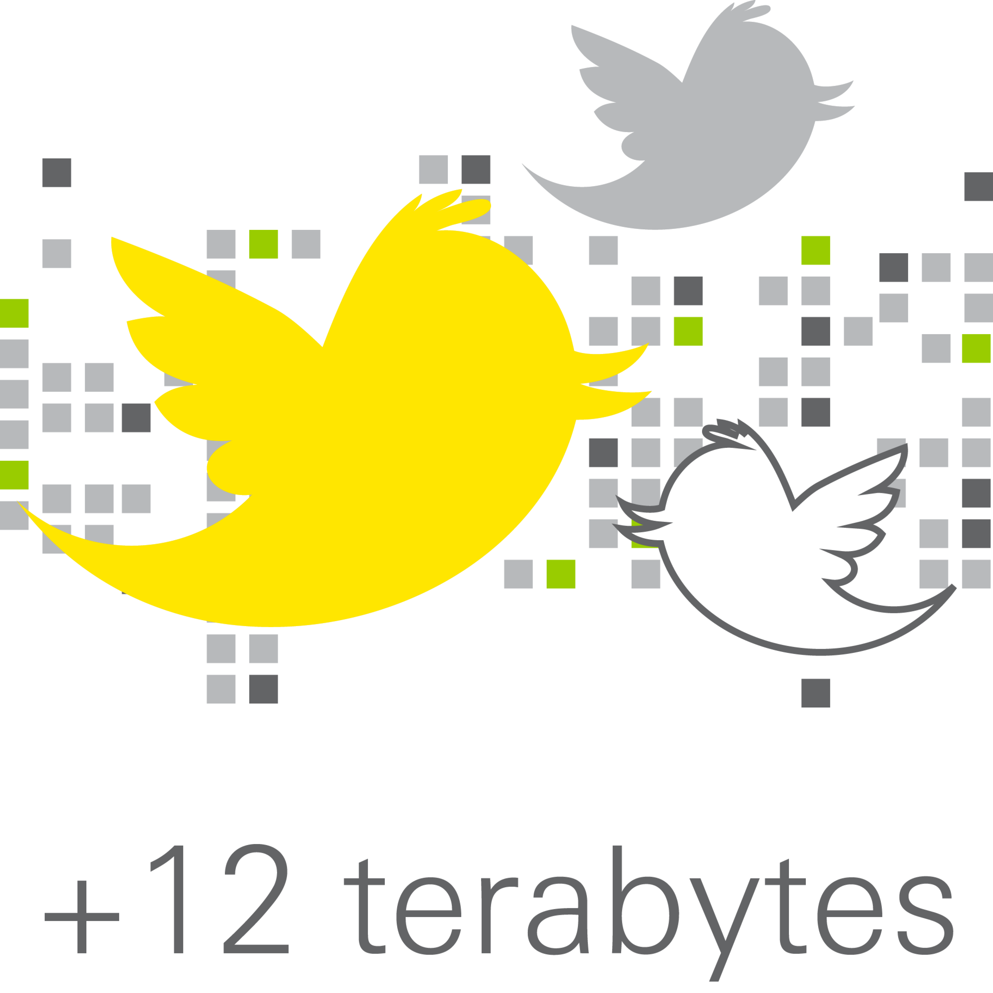 Graphic depicts 12 terabytes