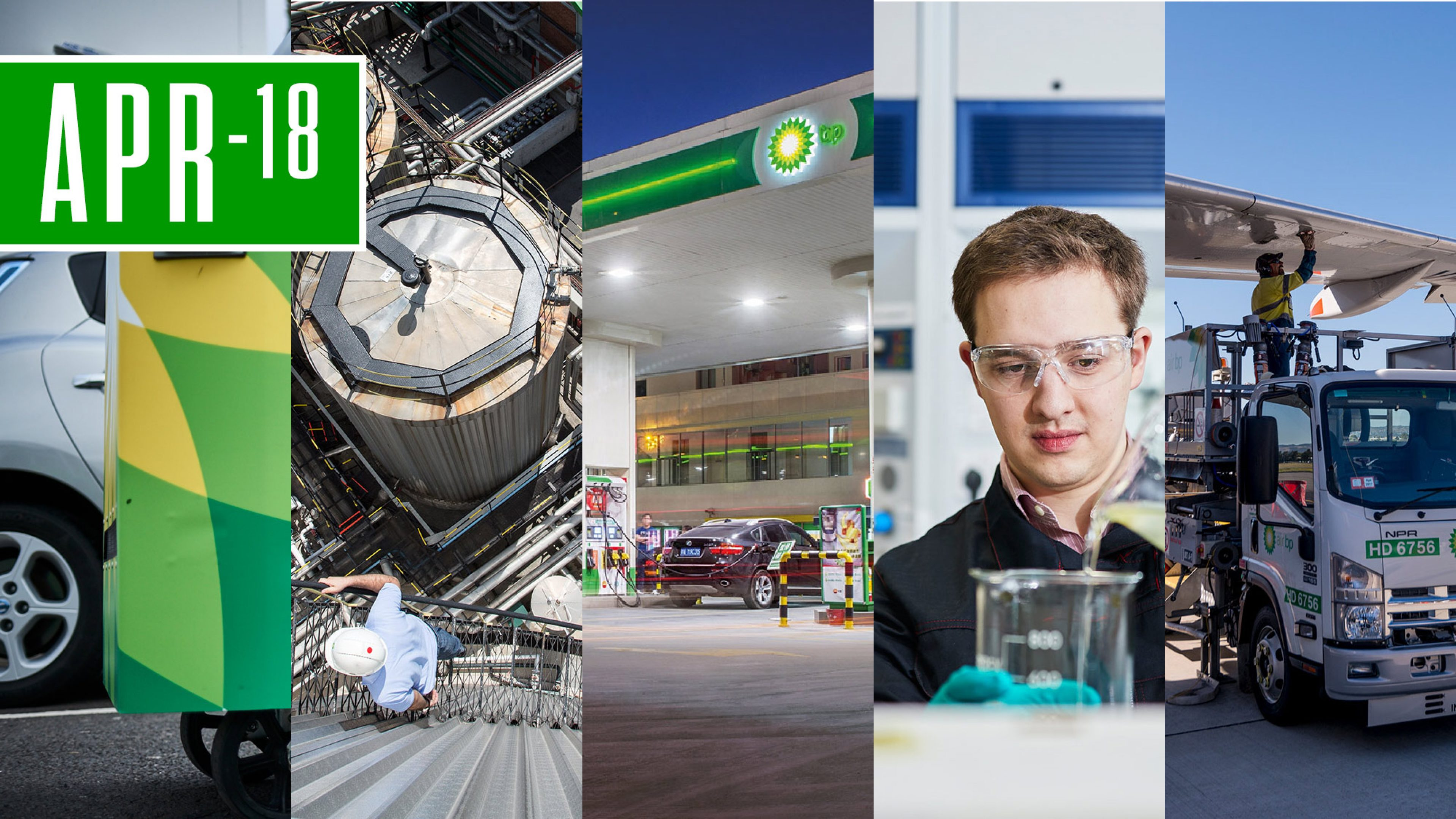 Photo montage of  some  of the BP downstream business activities