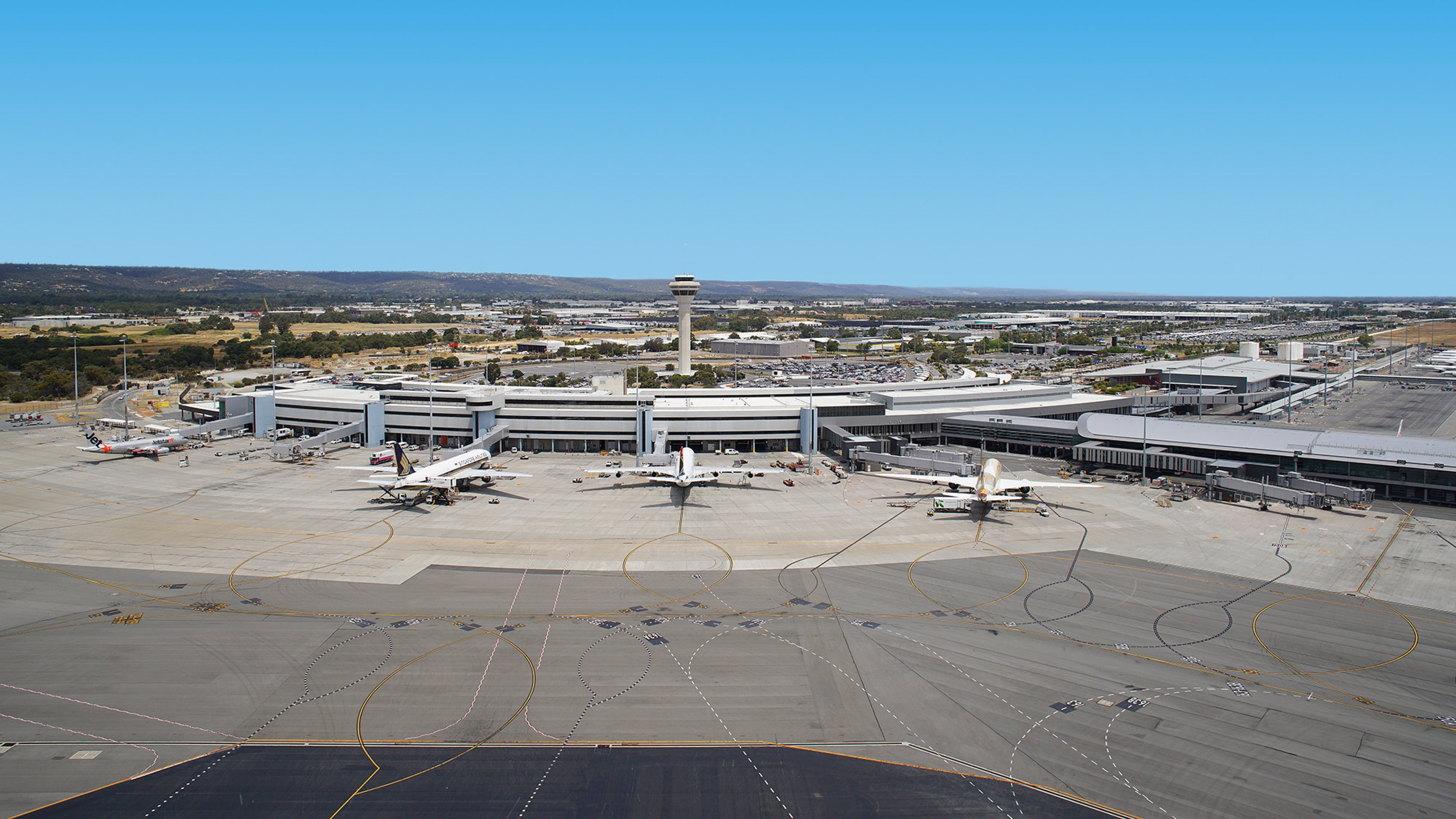 Terminal view, image courtesy of Perth Airport