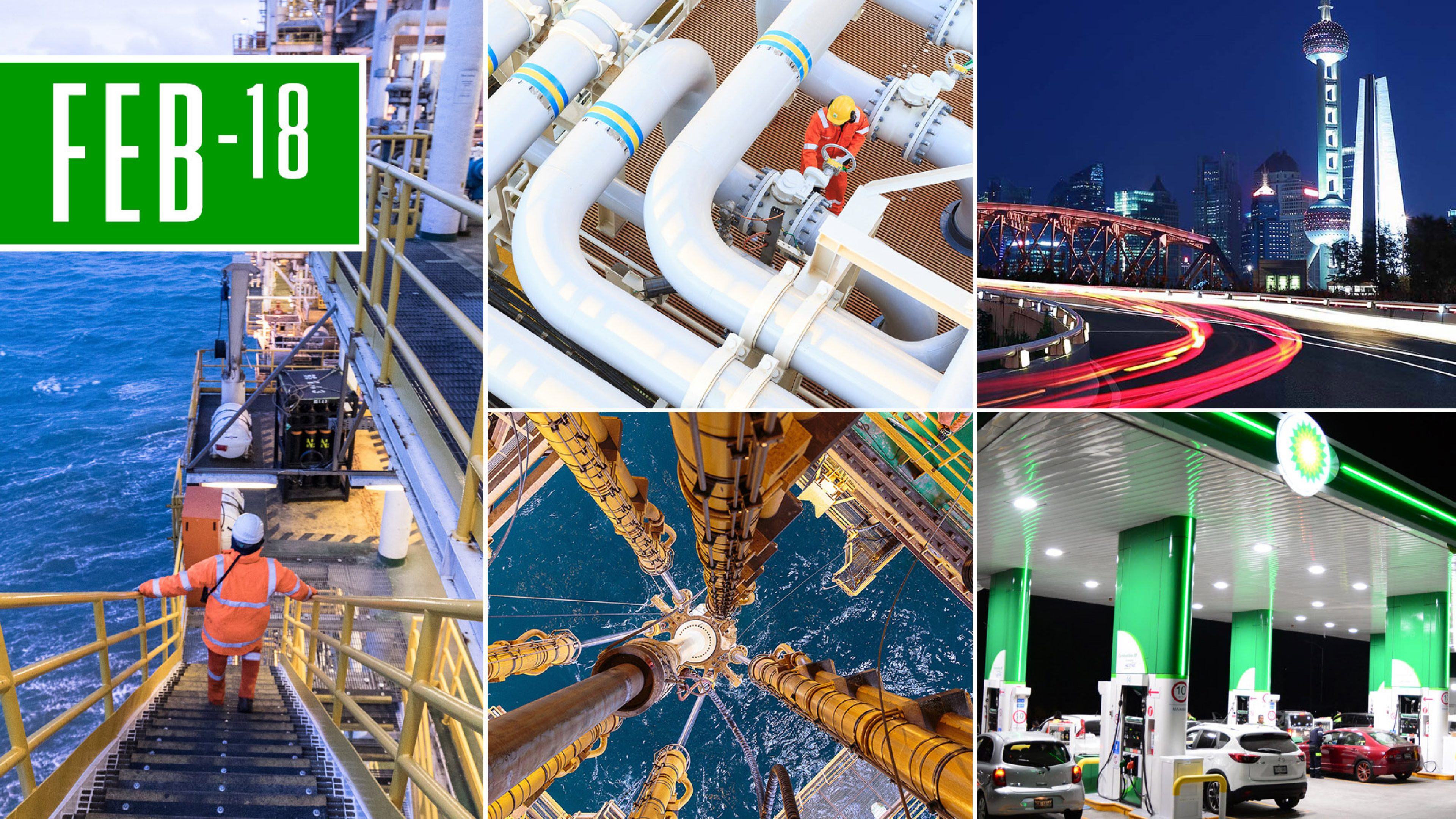 Montage of BP business images
