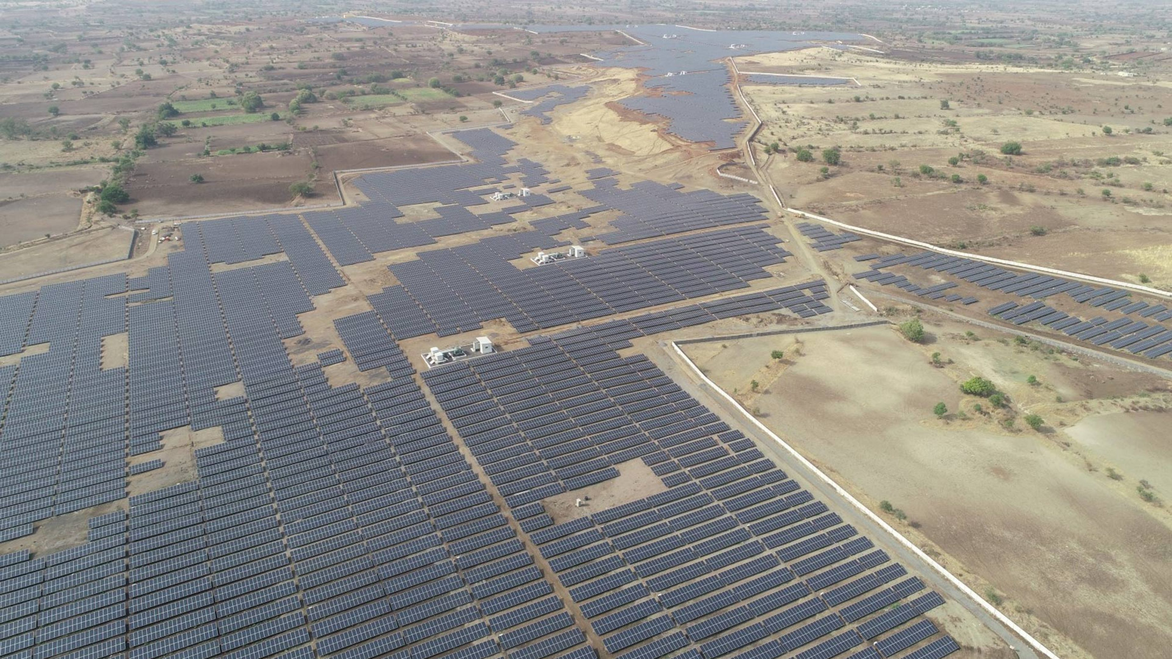 Solar farm in Maharashtra, India