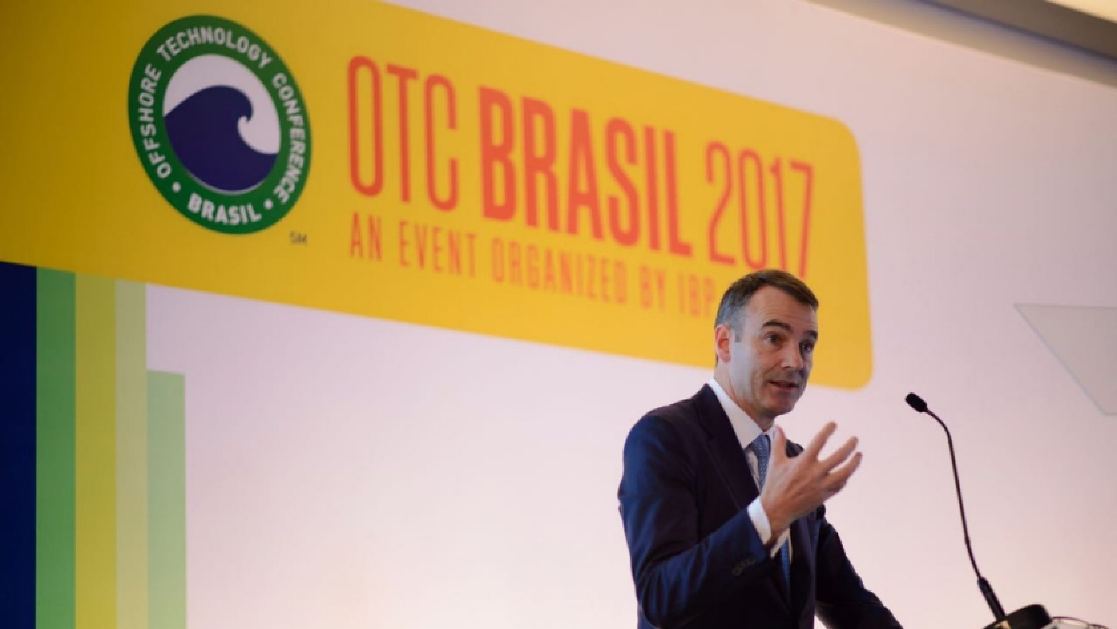 Bernard Looney at the Offshore Technology Conference, Rio de Janeiro, Brazil