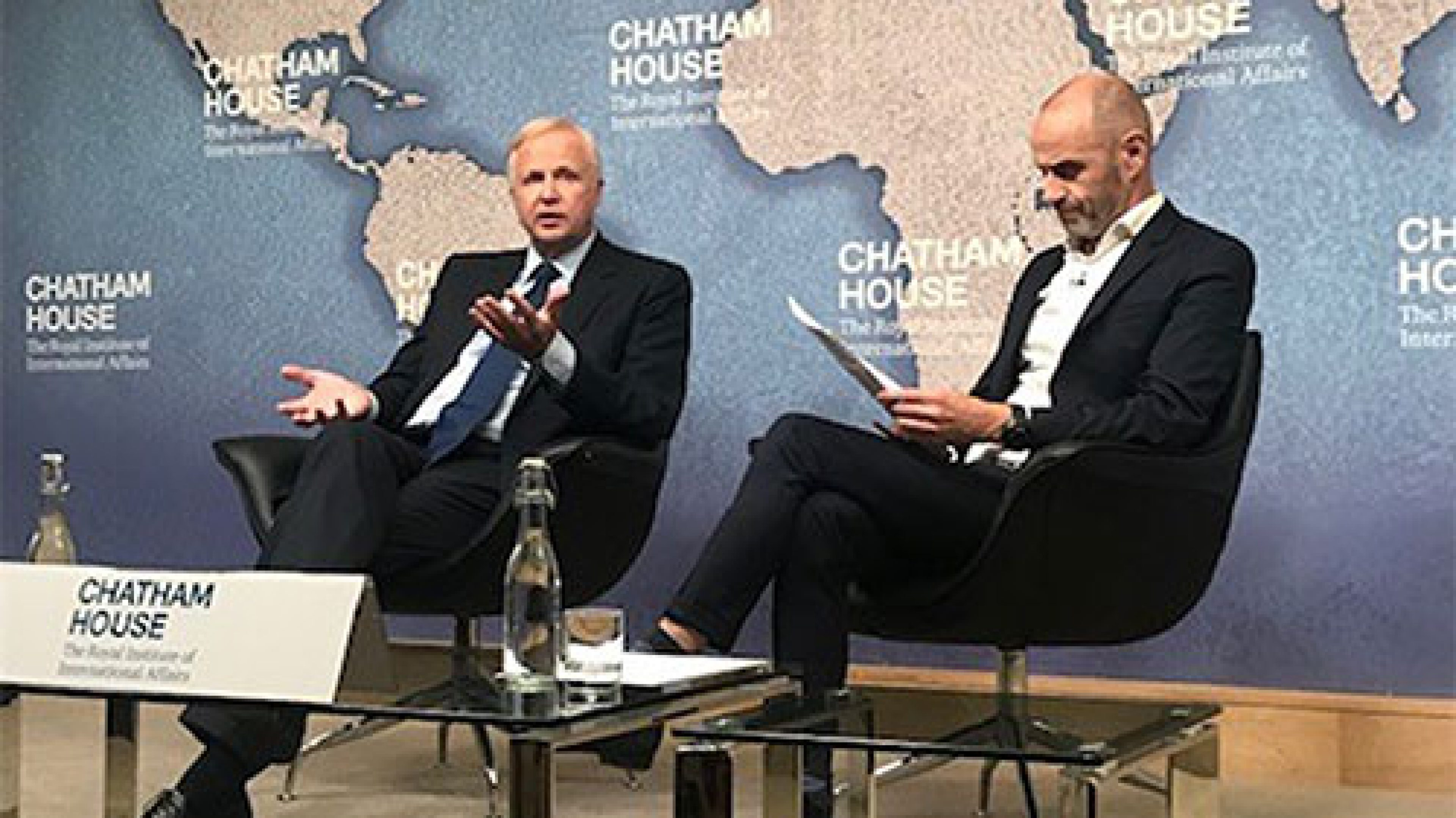 Bob Dudley, group chief executive at Chatham house, London