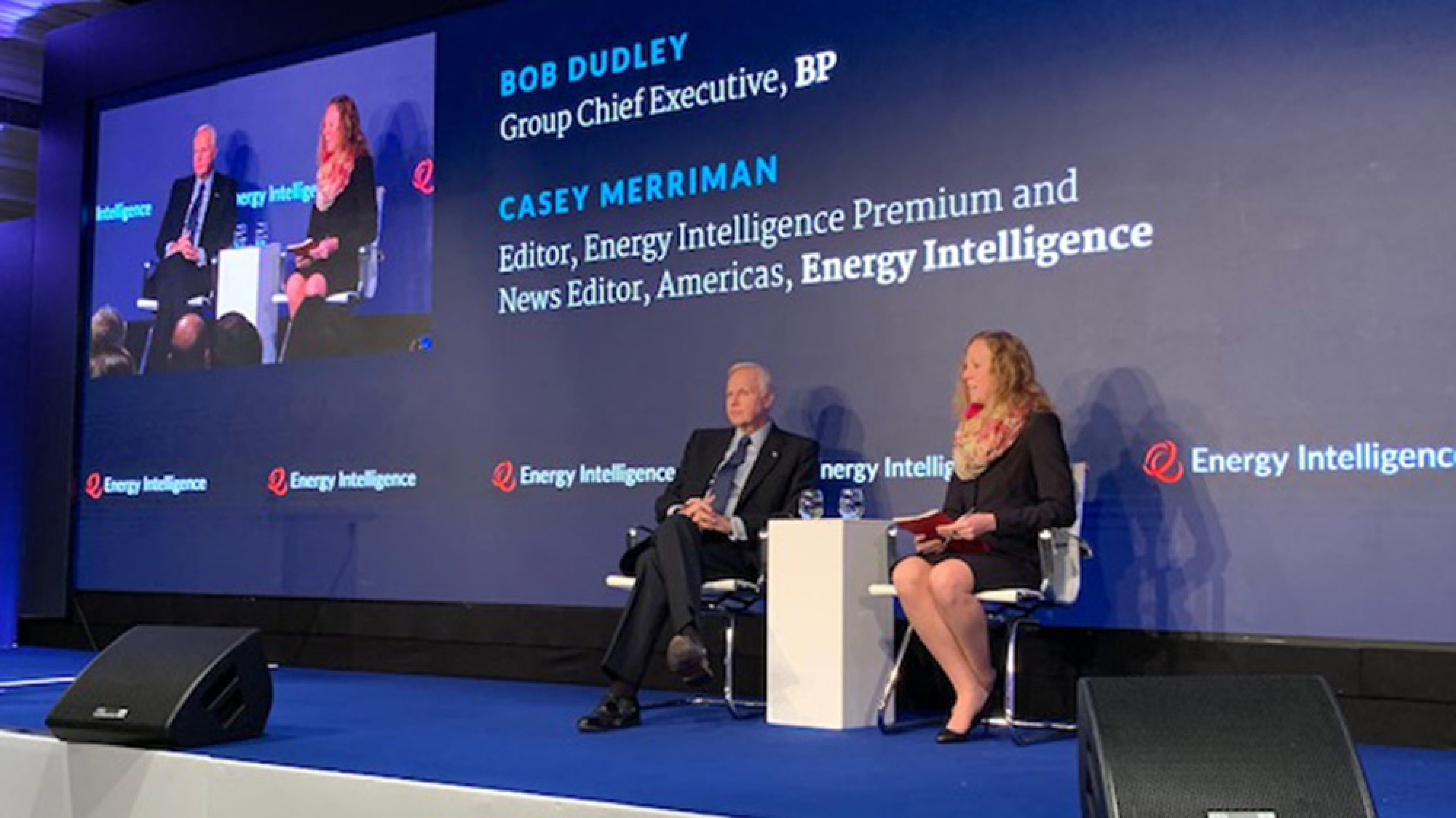 Bob Dudley, group chief executive at Energy Intelligence's Oil and Money conference 2019