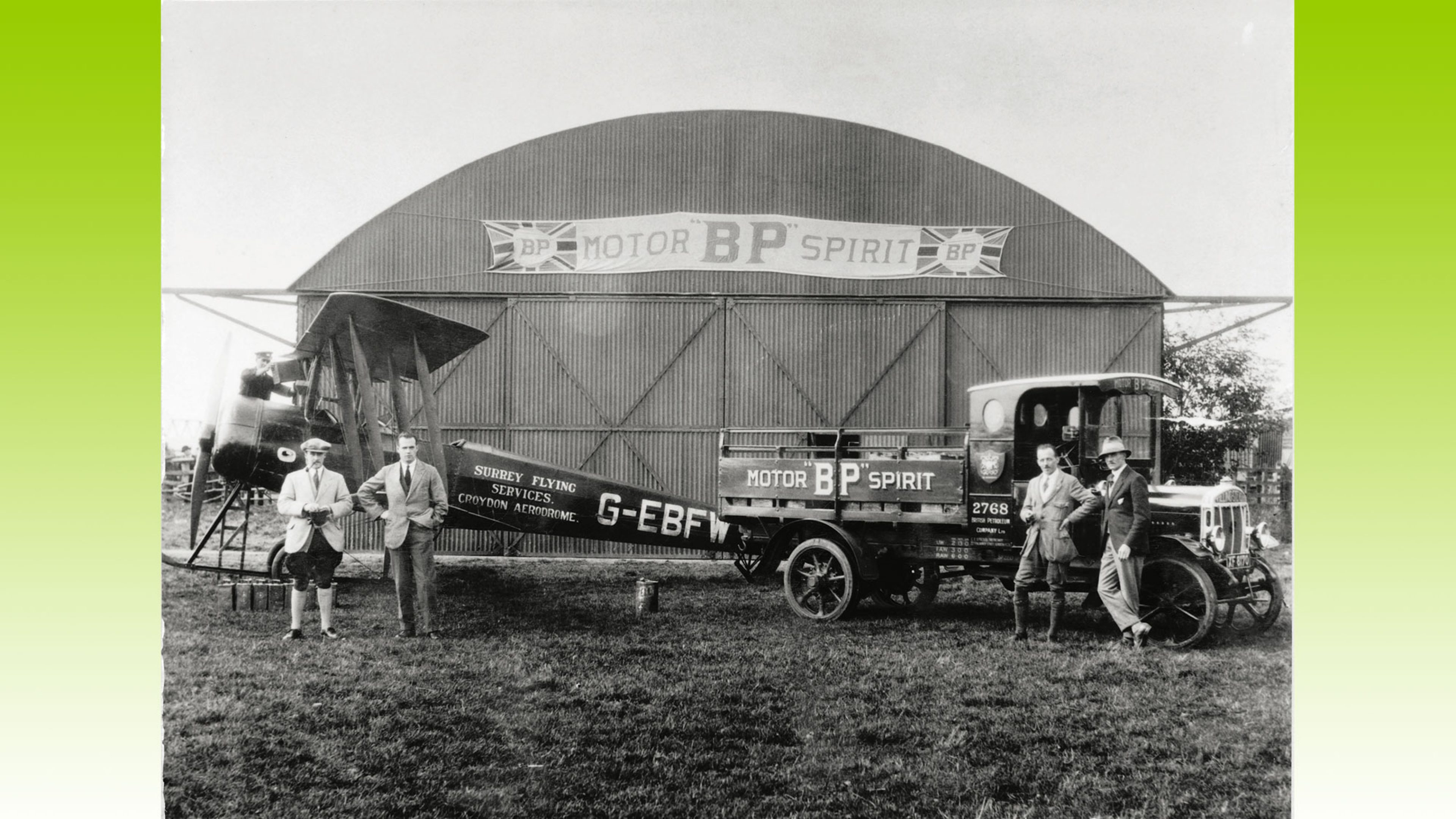 The BP Aviation Service fuelling unit at Gloucester, UK, 1928