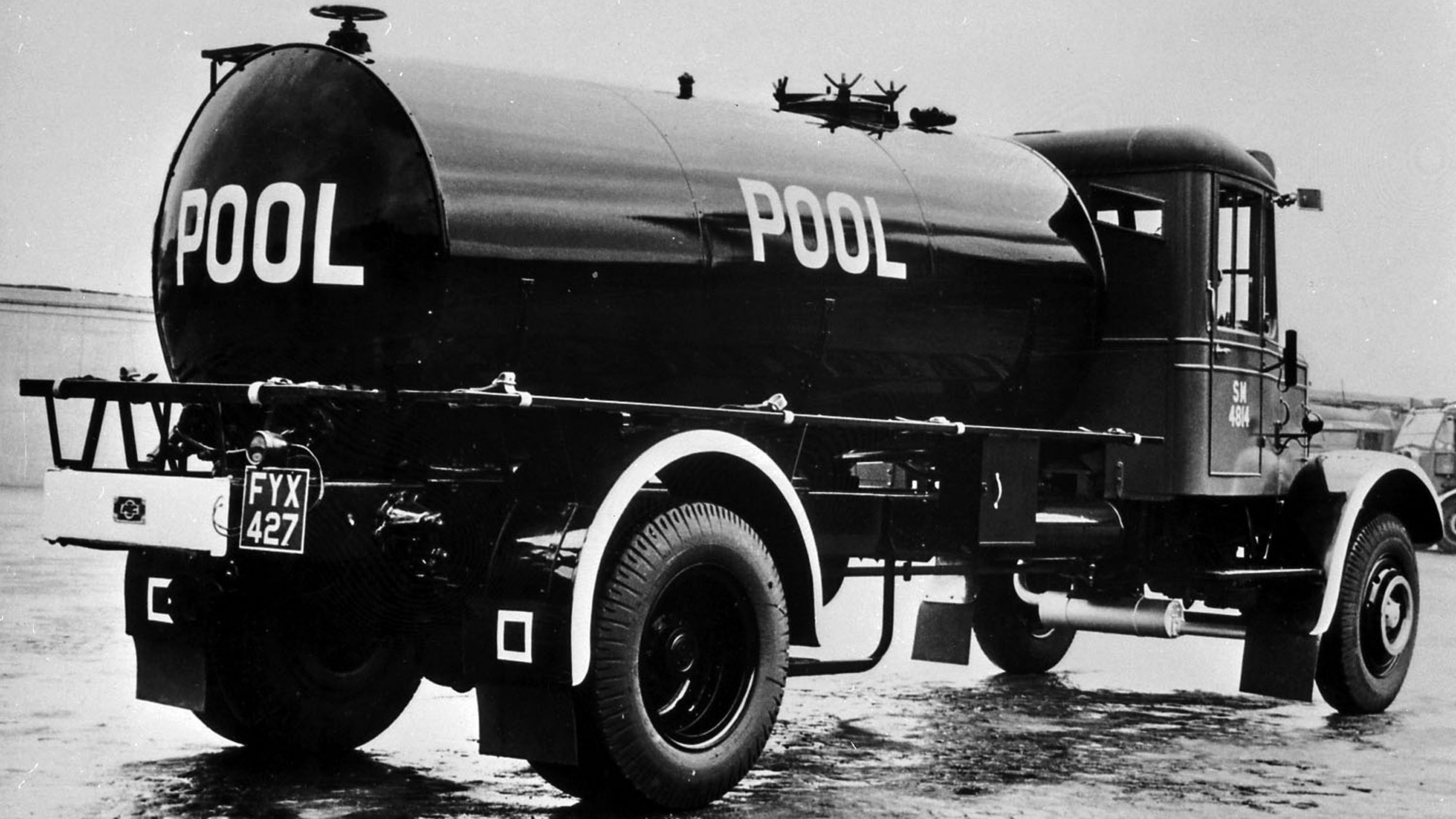 A typical WWII 'pool lorry', with no company branding