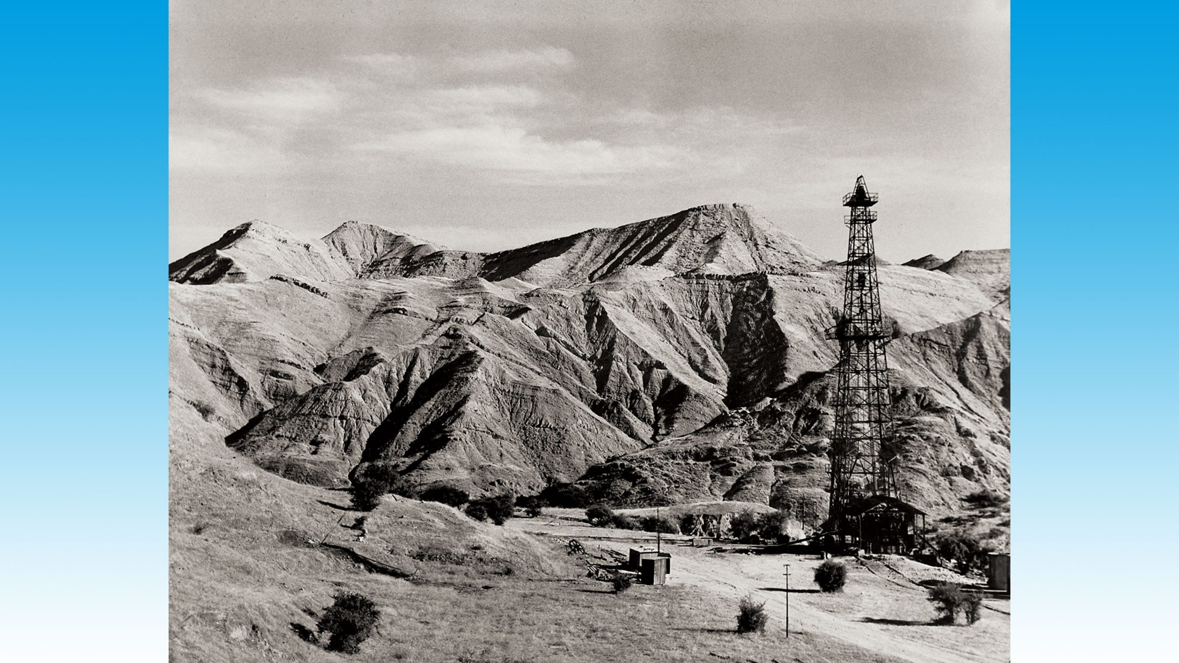 The Lali oilfield in the foothills of the Zagros mountains in south western Iran, one of the several oilfields discovered by BP in Persia - renamed Iran in 1935