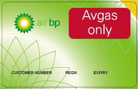 Carnet card for Avgas fuel