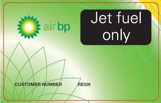 Air BP Carnet Card for jet fuel