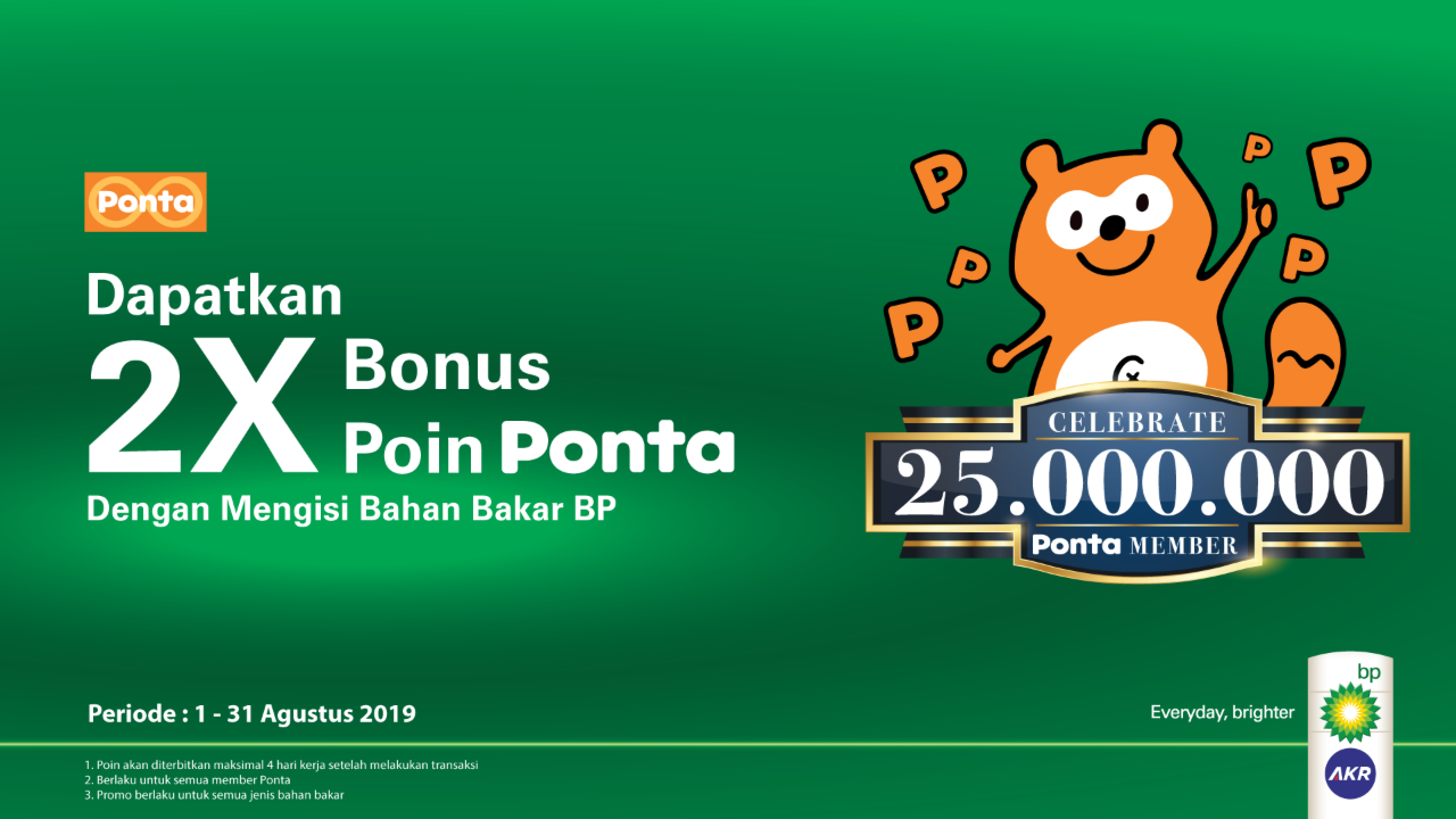 Double Ponta Bonus Points