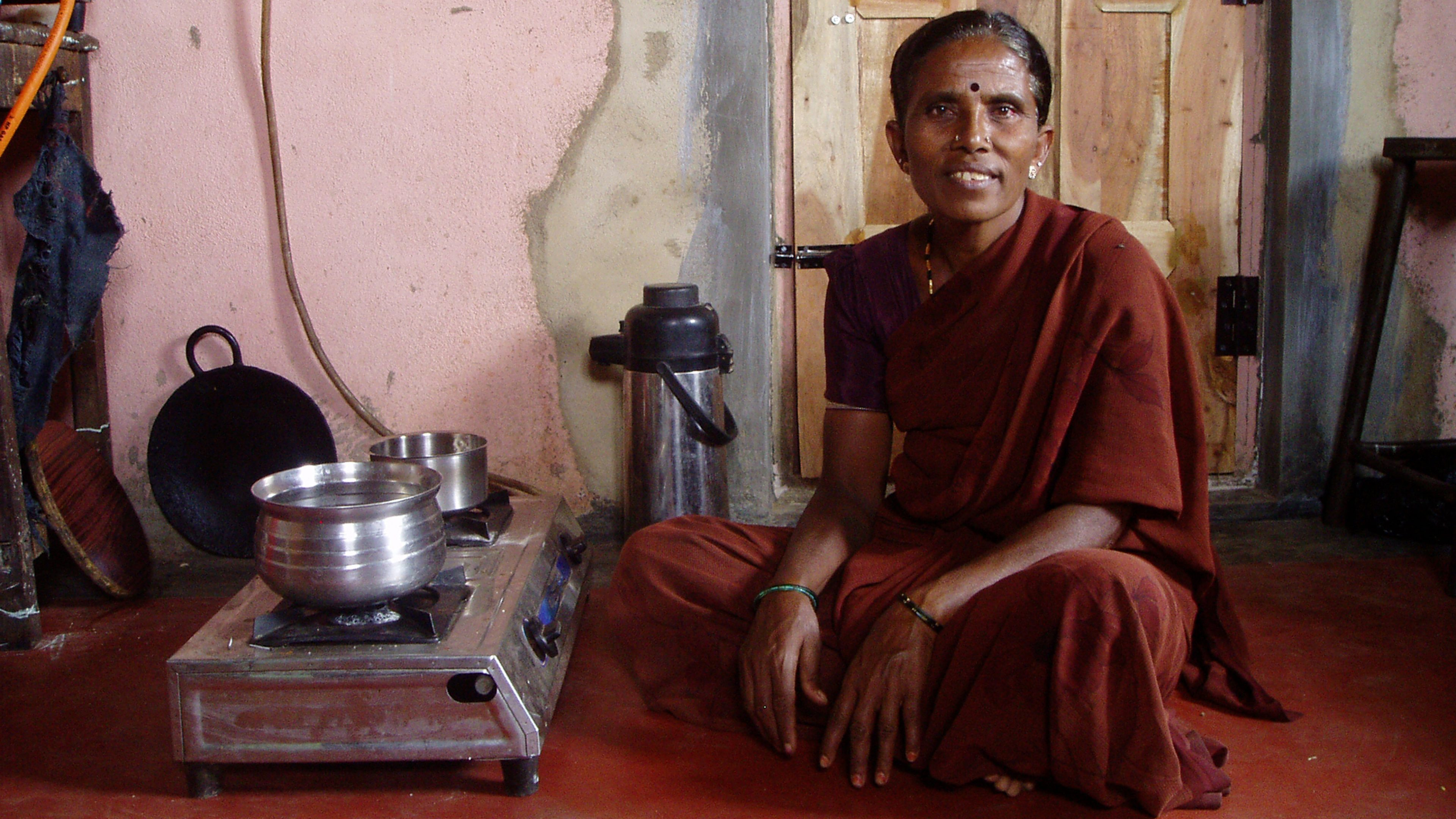 Household in the Bagepalli Coolie Sangha –biogas project